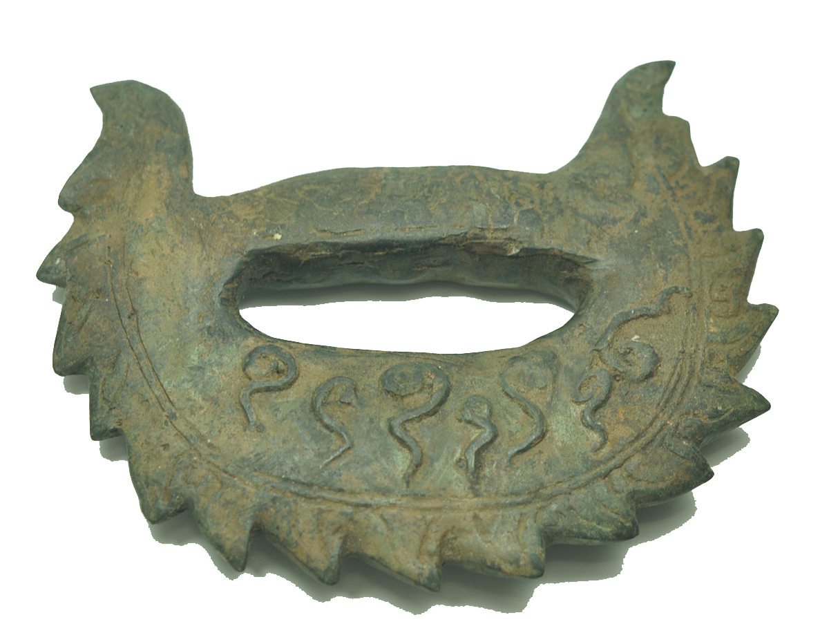 Extream RARE Antique bronze knuckle knife khmer diety god bayon
