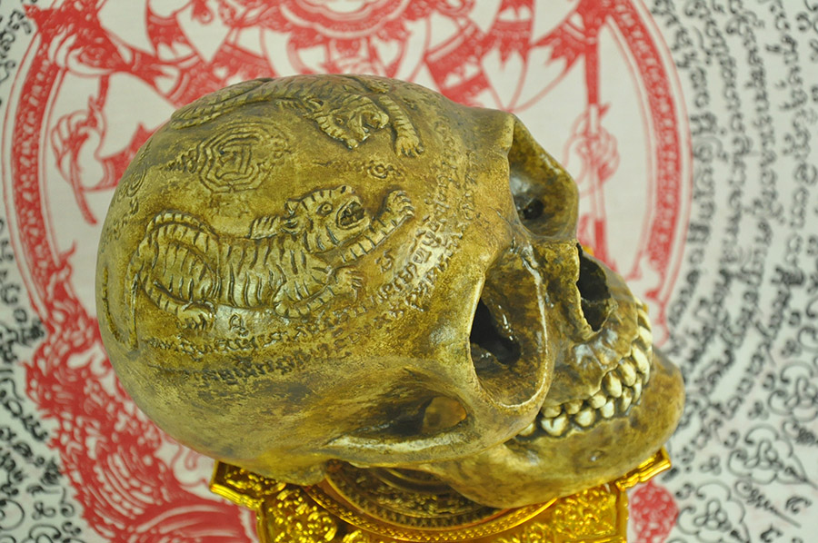 Ritual Skull Thai Amulet Talisman Magic mystic Voodoo occult Shaman