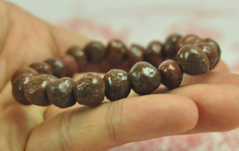 Bracelets Jewelry & Watches Brave Natural Bracelet Cave Relics Stone Mineral Round Beads Buddha Thai Amulet Bangle