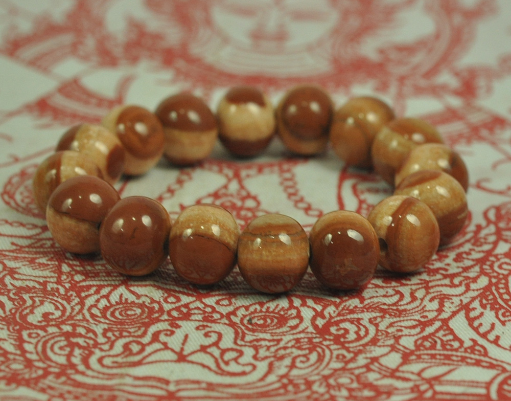 Southeast Asia Brave Natural Bracelet Cave Relics Stone Mineral Round Beads Buddha Thai Amulet Bangle